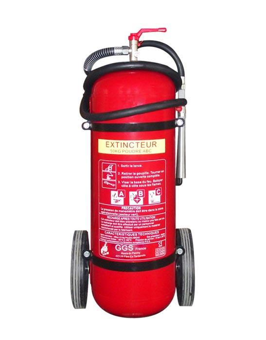 type d'installation de système de lutte contre l'incendie